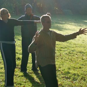 Qigong in the morning mist