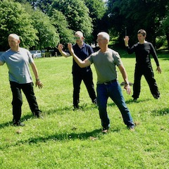 Shibashi Qigong in the park